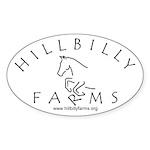 Hillbilly Farms Oval Sticker (10 pk)