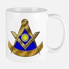 Masonic Past Master Mug with square