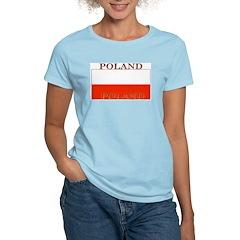Poland Polish Flag Women's Pink T-Shirt