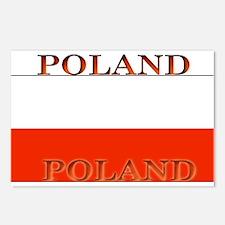 Poland Polish Flag Postcards (Package of 8)