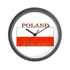 Poland Polish Flag Wall Clock