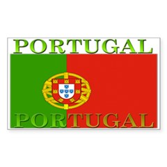 Portugal Portuguese flag Rectangle Decal