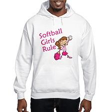 Softball girls Rule Hoodie