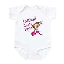 Softball girls Rule Infant Bodysuit