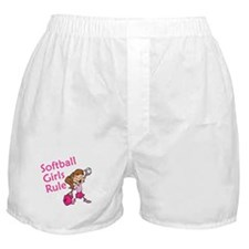 Softball girls Rule Boxer Shorts