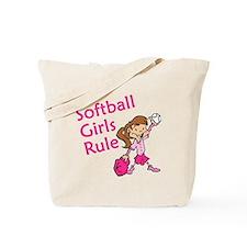 Softball girls Rule Tote Bag