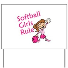 Softball girls Rule Yard Sign