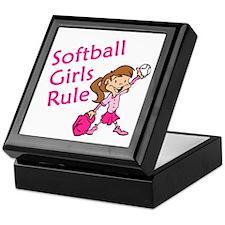 Softball girls Rule Keepsake Box
