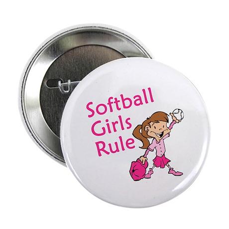"""Softball girls Rule 2.25"""" Button"""