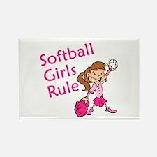 Softball girls Rule Rectangle Magnet