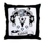 Caddell Family Crest Throw Pillow