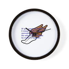 Winged running shoe Wall Clock