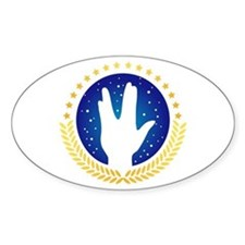 Vulcan Hand Greeting Oval Decal