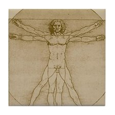 Vitruvian Man Tile Coaster