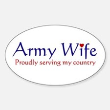 Army Wife Serving Oval Decal