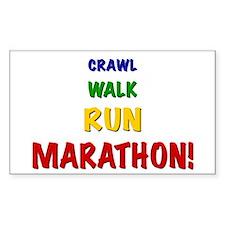 Crawl Walk Run Marathon Kids Decal