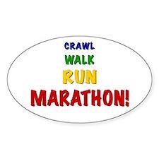 Crawl Walk Run Marathon Decal