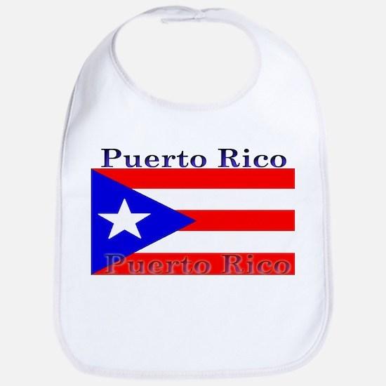 Puerto Rico Rican Flag Bib