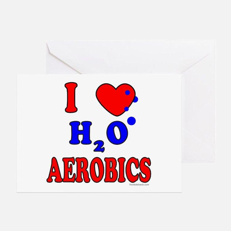 WATER AEROBICS Greeting Card