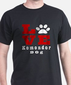 Love Komondor Dog Designs T-Shirt