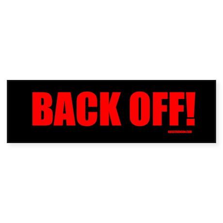 BACK OFF! (large print)