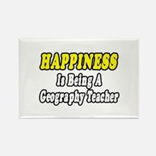 """""""Happiness:Geography Teacher"""" Rectangle Magnet"""