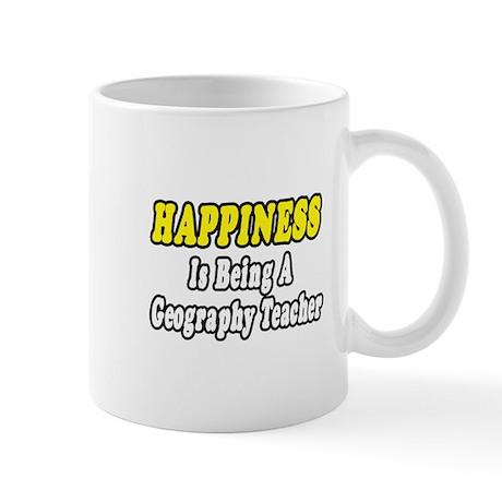 """Happiness:Geography Teacher"" Mug"