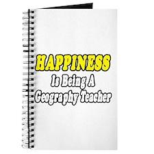 """Happiness:Geography Teacher"" Journal"