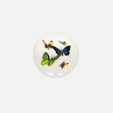3D Butterfly Mini Button (10 pack)