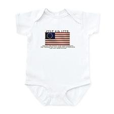 July 4th Flag Infant Bodysuit