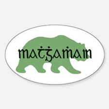 Irish Gaelic Bear Oval Decal