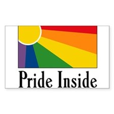 Pride Inside Rectangle Decal