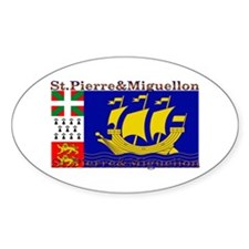 St Pierre & Miquellon Oval Decal