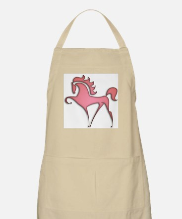 Stylized Horse (red) BBQ Apron