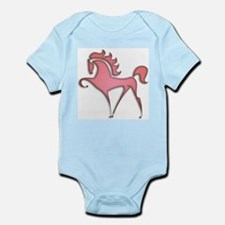 Stylized Horse (red) Infant Creeper
