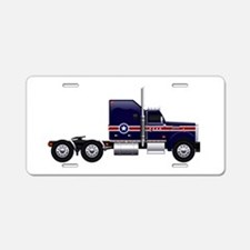 Blue American Truck Aluminum License Plate