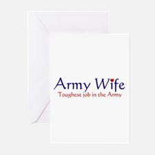 Army Wife Toughest Job Greeting Cards (Package of