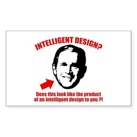 George Bush Intelligent Design 3x5 Sticker