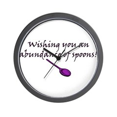 Wishing you an Abundance of S Wall Clock