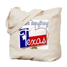 I Love Everything Texas Tote Bag