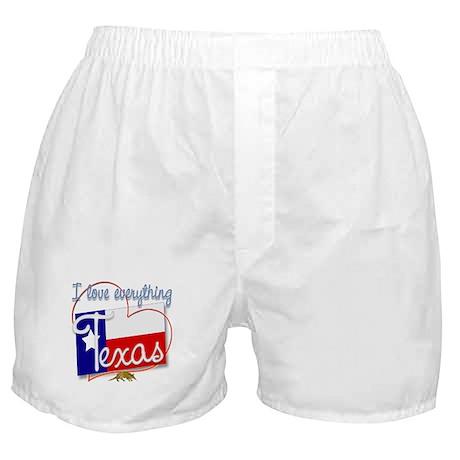 I Love Everything Texas Boxer Shorts