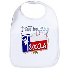 I Love Everything Texas Bib