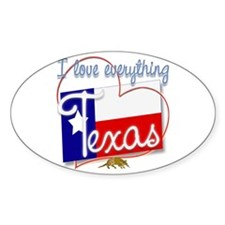 I Love Everything Texas Oval Decal