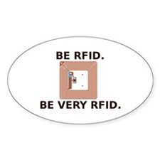 Be RFID Oval Decal