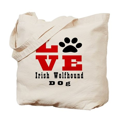 Love Irish Wolfhound Dog Designs Tote Bag