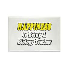 """""""Happiness...Biology Teacher"""" Rectangle Magnet"""