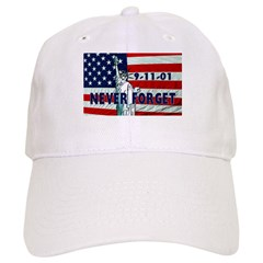 9-11-01 Never Forget Baseball Cap