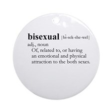 BISEXUAL / Gay Slang Ornament (Round)