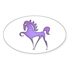 Stylized Horse (purple) Oval Decal