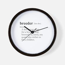 BREEDER / Gay Slang Wall Clock